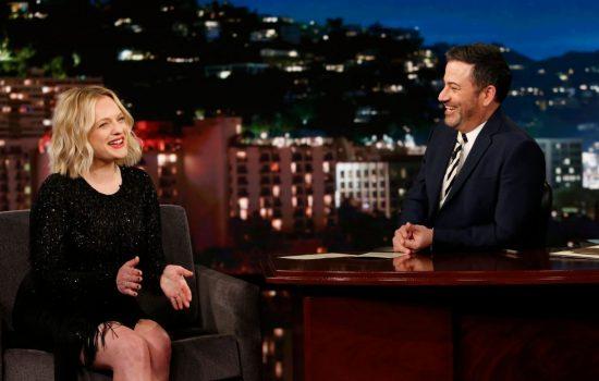 Elisabeth Moss on Jimmy Kimmel Live (Video)